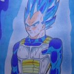 Drawing Vegeta S.S.J.Blue-Dragon Ball Super-ベジータ-ドラゴンボール 超( スーパー ) #Shorts