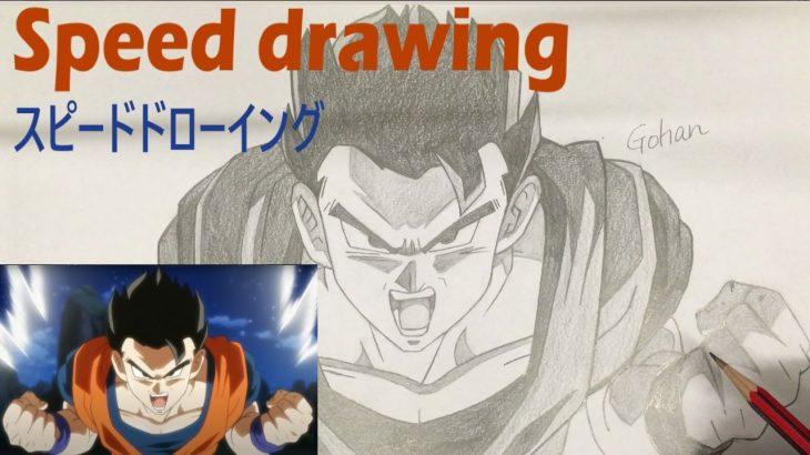 Speed drawing Gohan (Dragon Ball Super) ドラゴンボール超 悟飯 描いてみた スピードドローイング
