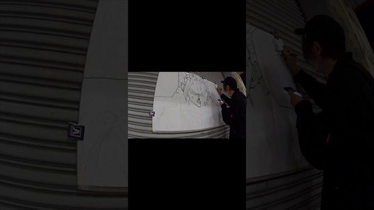【ドラゴンボール】悟飯を吉祥寺でライブドローイング i draw gohan on the street