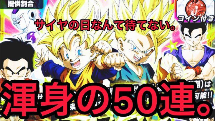 【50連ガシャ】ドラゴンボールZ ドッカンバトル ドッカンフェス悟天&トランクスを狙って渾身の50連ガシャ!