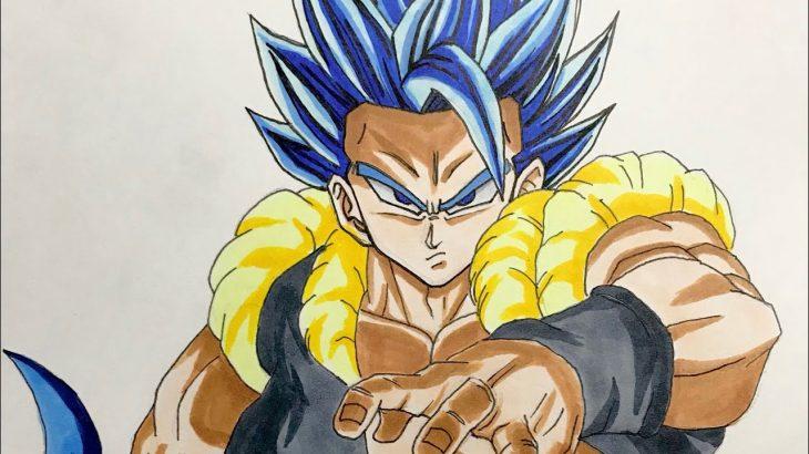 ドラゴンボール ゴジータブルー 描いてみた DRAGON BALL gogeta blue drawing