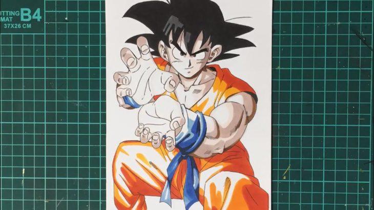 【ドラゴンボール】孫悟空描いてみた! Drawing Goku #Shorts