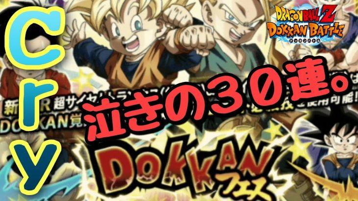 ❲ドラゴンボールZ ドッカンバトル#605❳ 泣きの30連!!おじさん、おちびちゃん達と遊びたい!!