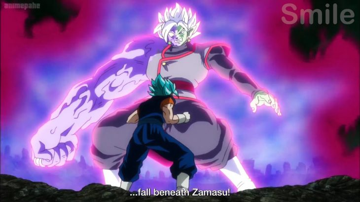 ドラゴンボール超 – 融合したザマスとSSJブルーベジットの爆発的な誕生、絶対神の究極の力