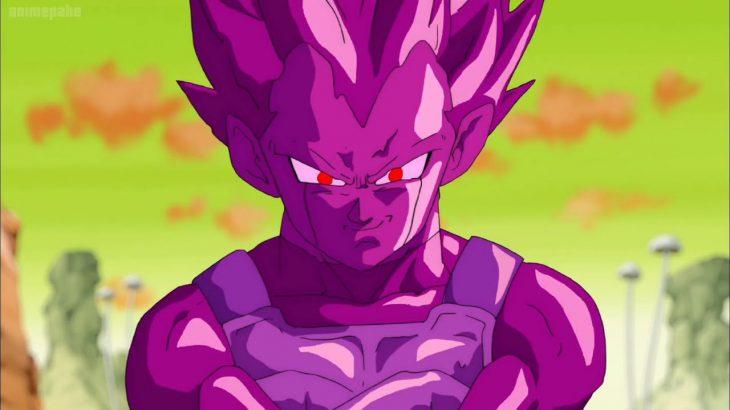 ドラゴンボール超 – グーリルのヘンチマンは紫色の粘液でベジータをむさぼり食い、紫色のベジータレプリカを産む