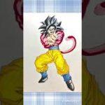 ドラゴンボール 超サイヤ人4 悟空 描いてみた DRAGON BALL super saiyan 4 goku drawing #shorts