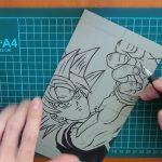 《ドラゴンボール超 / 悟空》ガラス彫刻(サンドブラスト) DragonBall Super / goku-glass art