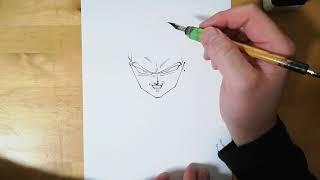 ドラゴンボール原作の一番カッコイイ作画のベジータはこれだと思う!Drawing Vegeta 【ドラゴンボール/Dragon Ball】