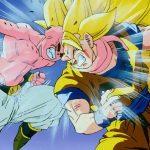 ドラゴンボール ! SSJ3孫悟空 が疲れ果てて気絶 , 魔人ブウは致命的な紫外線を放出して戦いを早く終わらせる -Super Saiyan 3 Goku faints from exhaustion