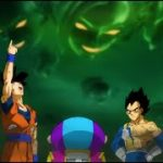ドラゴンボール超   無限のザマスが指をパチンと鳴らして宇宙を消滅させ、ぜんちゃんが無限ザマスを取り除く