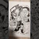 スーパーベジータvsセルを描いてみた ドラゴンボール Drawing DRAGON BALL #Shorts 鳥山明 漫画 MANGA イラスト 原稿 原稿用紙