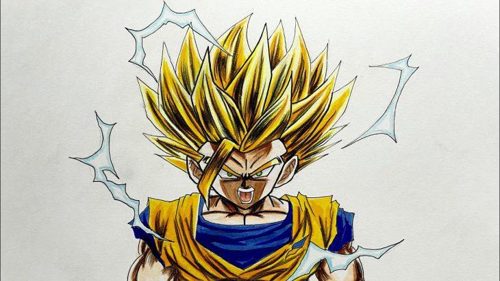 ドラゴンボール 孫悟飯 スーパーサイヤ人2 描いてみた DRAGON BALL Son Gohan Super Saiyajin2 drawing