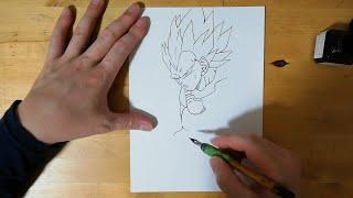 爆誕「破壊神ベジータ」描いてみる~Drawing Vegeta【ドラゴンボール/Dragon Ball】