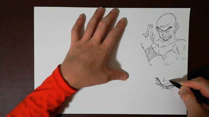 てか、天津飯もかっこいいよね!!!Drawing Tensinhan【ドラゴンボール/Dragon Ball】