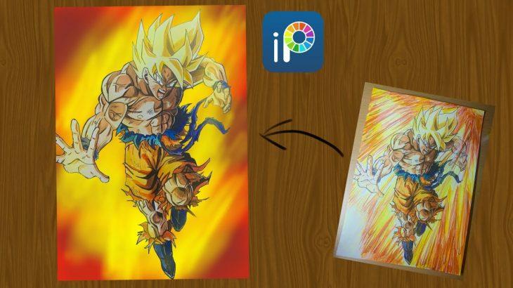 【ドラゴンボール】超サイヤ人孫悟空を描いてみた! Drawing Dragon Ball Goku