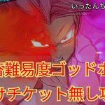 SDBH スーパードラゴンボールヒーローズ BM10弾 鬼畜難易度のゴッドボス 紅き仮面のサイヤ人 お助けチケット無し攻略!