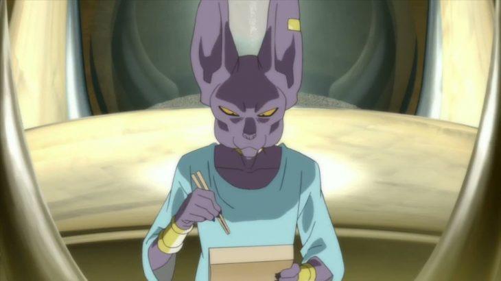 ドラゴンボール 超 食事シーン ビルスが寿司を食べるシーン🍣