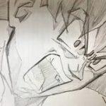 [ドラゴンボールパラパラ漫画]悟空のかっこいいシーンをパラパラ漫画で描いてみた「破壊を楽しんでんじゃねぇぞ!」Dragonball flipbook Goku 志田直俊