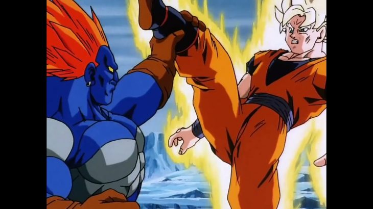 ドラゴンボール Z vs 人造人間 13号 股関を殴られる悟空 Dragon Ball Z Goku vs Android 13